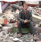 منزل مدمر في غزة