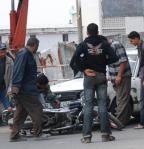 حادثة دراجة نارية