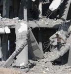 المنازل المدمرة في غزة