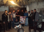 ... وفد من اللجنة الإجتماعية بكتائب شهداء الأقصى - لواء غزة يطمئن على المناضل: محمد أبو جبل