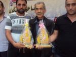 وفد من كتائب شهداء الأقصى - لواء غزة يُشارك في إحياء ذكرى إستشهاد سامي مصبح ومازن عياد