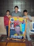 كتائب شهداء الأقصى - لواء غزة تزور منزل الشهيد/ عادل عبد الله إسليم