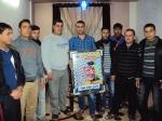وفد من كتائب شهداء الأقصى - لواء غزة يهنئ الأخ/ باسل حماد عياد بالزفاف