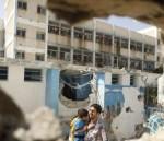 قصف مدرسة