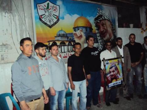 وفد من كتائب شهداء الأقصى - لواء غزة يزور المناضل/ سمير كشكو