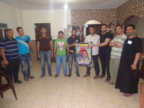 كتائب شهداء الأقصى - لواء غزة تزور المناضل/ بسام الريفي
