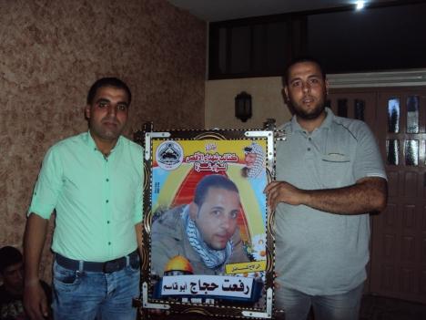 وفد من كتائب شهداء الأقصى - لواء غزة يهنئ المناضل: رفعت حجاج بقدوم التوأم الجديد
