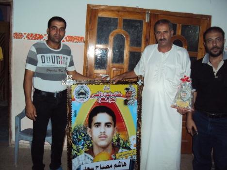 وفد من كتائب شهداء الأقصى - لواء غزة يزور أسرة الشهيد/ هاشم مصباح سعد
