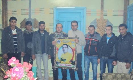 وفد من كتائب شهداء الأقصى - لواء غزة يزور المناضل: محمد بردع