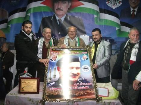 فد قيادي من كتائب شهداء الأقصى - لواء غزة يشارك في إحياء ذكرى اللواء عبد المعطي السبعاوي