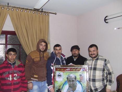 وفد من كتائب شهداء الأقصى - لواء غزة يزور عائلة الشهيد عمر محمد السيسي