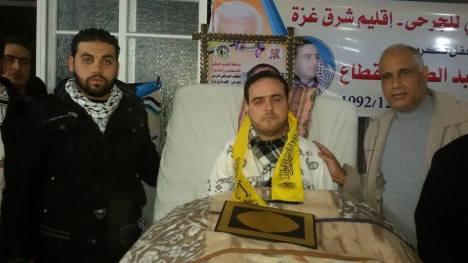 كتائب الأقصى - لواء غزة تكرم الجريح: علاء القطاع في الذكرى الرابعة والعشرون لإصابته