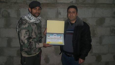 وفد من كتائب شهداء الأقصى - لواء غزة يكرم المناضل/ إبراهيم بصل