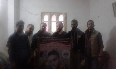 وفد من كتائب شهداء الأقصى - لواء غزة يزور عائلة الشهيد: حمزة محمد نصر