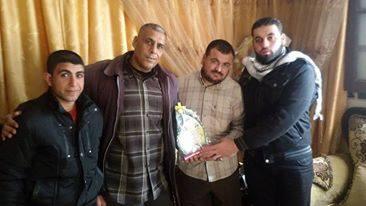 وفد من كتائب شهداء الأقصى - لواء غزة يزور الأخ المناضل: محمد صبري الرفاتي