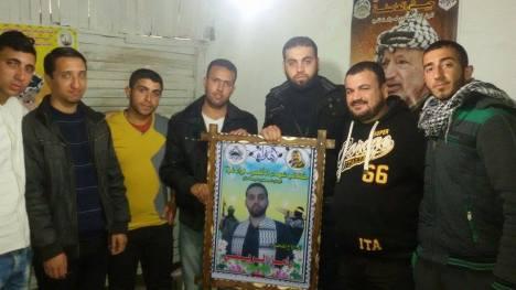 وفد من كتائب شهداء الأقصى - لواء غزة يزور الأخ المناضل: رامز الريفي
