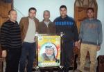 وفد من كتائب شهداء الأقصى - لواء غزة يزور الأخ المناضل: إبراهيم أبو هين