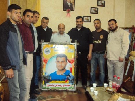 كتائب الأقصى - لواء غزة تكرم عائلة الأسير البطل/ مجدي رياض ياسين