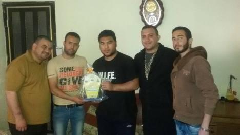 وفد من كتائب الاقصى - لواء غزة يهنئ الأخ: علي أبو علي بحصوله على شهادة البكالوريس