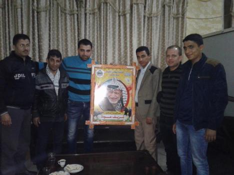 وفد من كتائب شهداء الأقصى – لواء غزة يزور المحامي: شريف عودة