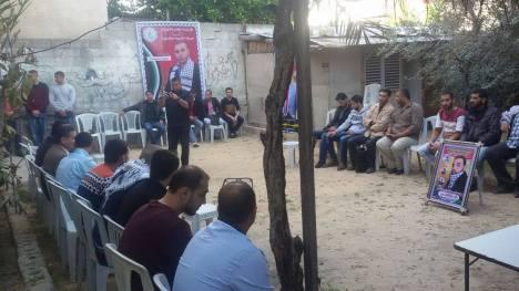 وفد من كتائب الأقصى - لواء غزة يهنئ المناضل/ رامز الريفي بالنجاح والتخرج