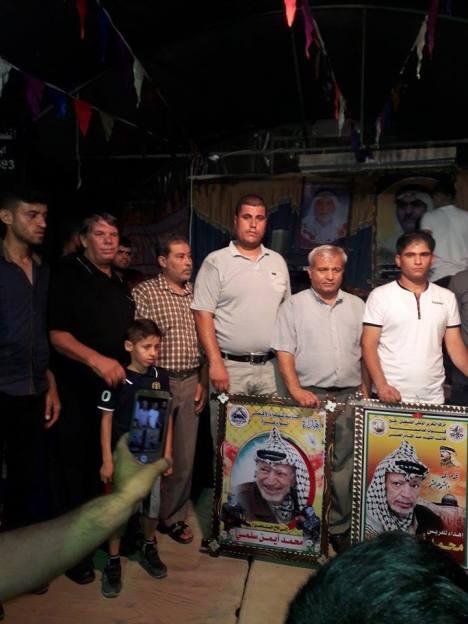 وفد من كتائب الأقصى - لواء غزة يهنئ عائلة سلمي بزفاف/ محمد أيمن سلمي
