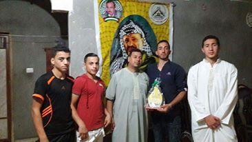 وفد من كتائب شهداء الأقصى - لواء غزة يزور المناضل: ياسر الأيوبي