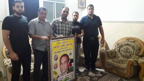 كتائب الأقصى - لواء غزة تزور المناضل وليد السمري