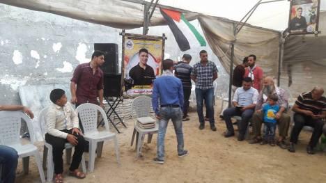 وفد من كتائب شهداء الأقصى - لواء غزة يكرم عائلة الشهيد/ معين اسبيتة