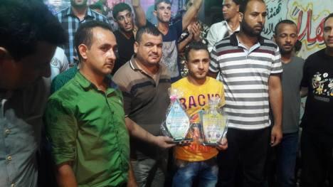 كتائب الأقصى – لواء غزة تبارك للأخ: محمد ناهض حبوش زفافه