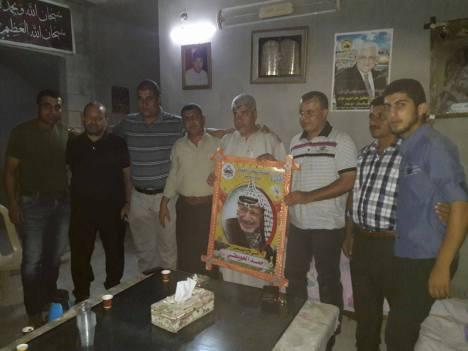 وفد قيادي من كتائب الأقصى - لواء غزة يزور المناضل: أحمد الحويطي