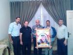 وفد من كتائب الأقصى - لواء غزة في الصبرة يزور المناضل/ هايل الدهشان