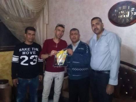 وفد من كتائب الأقصى - لواء غزة يزور الأخ المناضل: محمد الغندور
