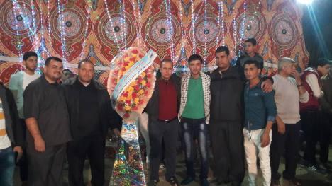 كتائب شهداء الأقصى - لواء غزة تبارك لإبنها محمد رزق عرفات زفافه
