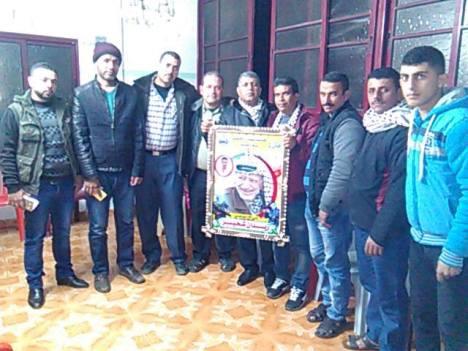وفد من كتائب شهداء الأقصى - لواء غزة يزور المناضل: زيدان شحيبر