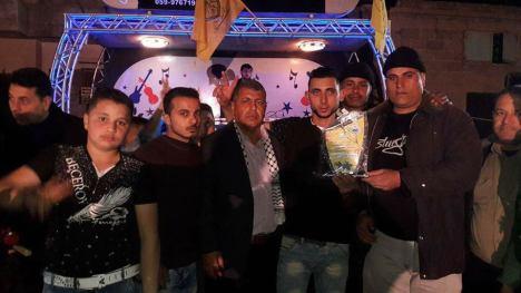 وفد من كتائب الأقصى - لواء غزة يبارك للمناضل/ محمد الأيوبي زفاف إبن أخيه