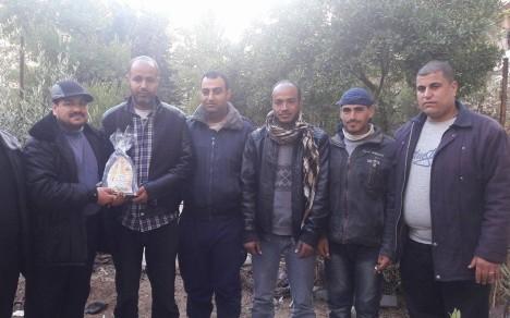وفد من كتائب شهداء الأقصى - لواء غزة يزور المناضل/ غسان ابو حشيش