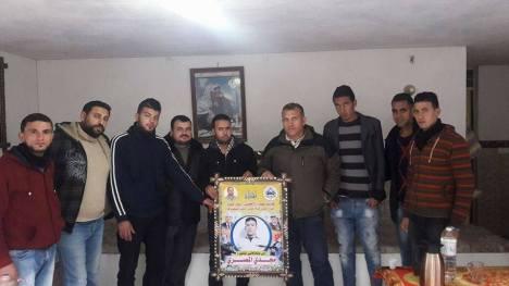وفد من كتائب الأقصى - لواء غزة يزور عائلة الأسير: مجدي المصري