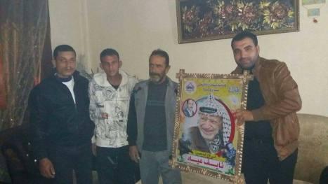 وفد من كتائب شهداء الأقصى - لواء غزة يزور المناضل/ نايف عياد