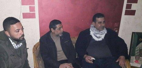 وفد من كتائب شهداء الأقصى - لواء غزة يزور المناضل/ عبد الكريم جنينة