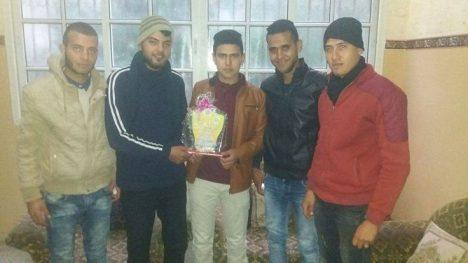 وفد من كتائب شهداء الأقصى - لواء غزة يهنئ الأخ: ماهر العثامنة بالشفاء