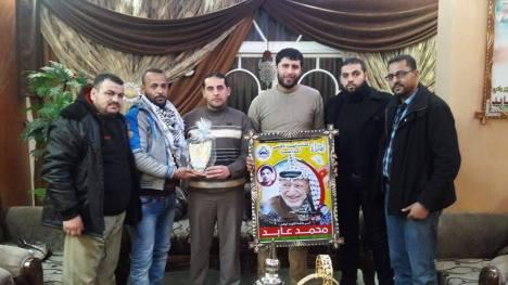 كتائب شهداء الأقصي - لواء غزة تزور عائله الشهيد: محمد مروان عابد