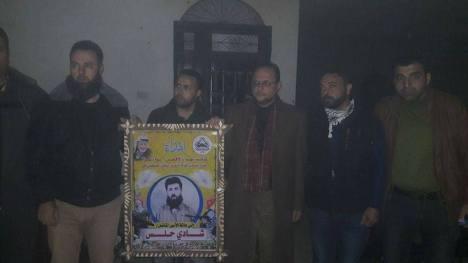 وفد كبير من كتائب الأقصى - لواء غزة يزور منزل الأسير: شادي حلس